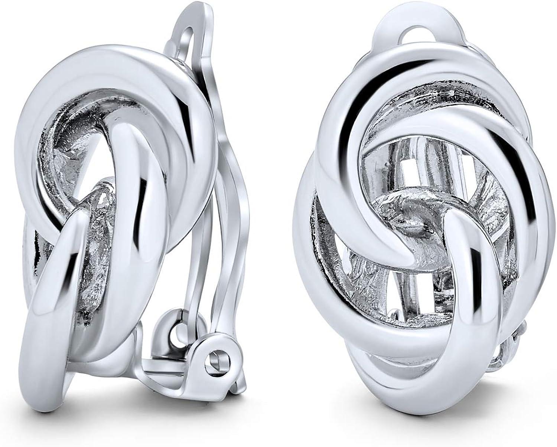 Interlocking Ranking TOP5 Rope Love Knot Clip On Non Women Earrings For Pierc Finally popular brand