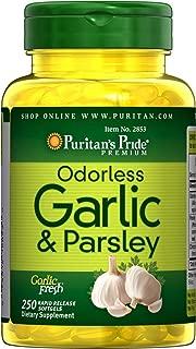 Puritans Pride Odorless Garlic & Parsley 500 Mg / 100 Mg, 250 Count