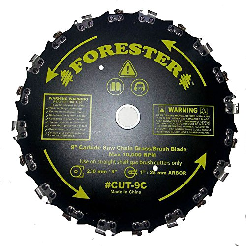 FORESTER Brush Cutter Blades - Trimmer Chainsaw Tooth Saw Blade - for Trimming Trees, Cutting String, Underbrush, and More - 20 Tooth 9