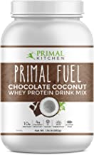 Primal Kitchen Primal Fuel Chocolate Coconut Whey Protein Powder- Updated Contains No Soy - 10g of Protein (1.85 Lbs)