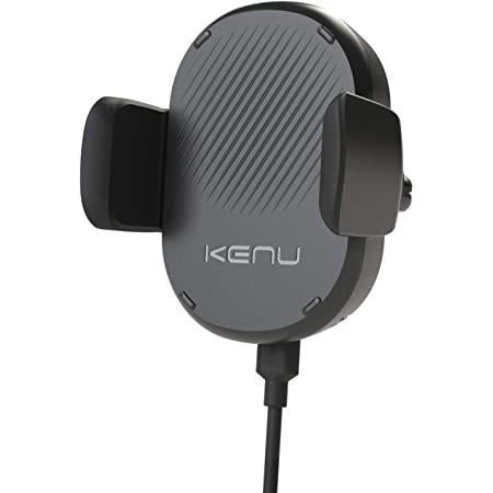 Kenu Airframe Car Phone Mount Wireless Charger - Air Vent Cell Phone Holder - 360 Degree Pivot, Qi Fast-Charging - Extra Large Expandable Grip - Use with Latest iPhones, Samsung and Androids