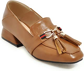 BalaMasa Womens APL11741 Pu Block Heels