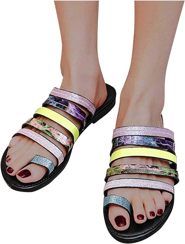 Hgndbloo Slippers Department store for Women Thong Flat Sanda Flops Platform security Flip