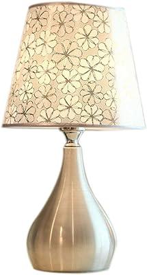 LQQGXL Nombre del producto: Lámpara de mesa Tipo de interruptor: Interruptor de botón Material del cuerpo ligero: aleación Material de sombra: tela Tipo de fuente de luz: lámpara de ahorro de ener