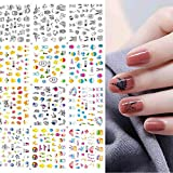 Bunny Eggs Nail Art Stickers Decals Rabbit Egg Chicken Nail Water Stickers Cute Cartoon Nail Accessories Decorations Cartoon Chick Duck Polish Wraps Decals DIY Nail Art Decoration Manicure 12 Sheets