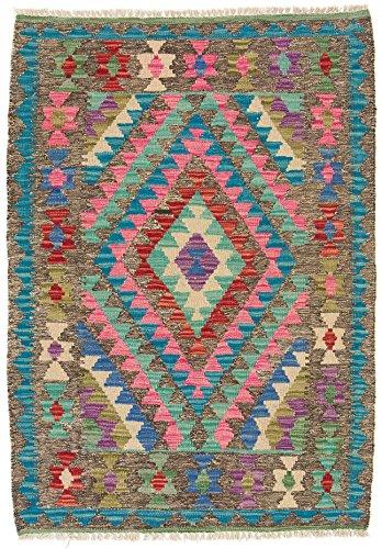 CarpetFine: Tapis Kilim Afghan - 83x118 cm Multicouleur - Géométrique
