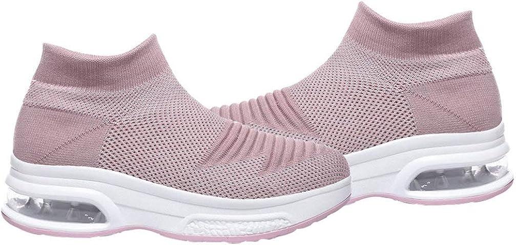 Holibanna Women Sports Shoes Knitting Air Cushion Soft Shoes Flat Bottom Breathable Mesh Sneakers Shoes Women Outdoor Shoes Walking Shoes 1Pair
