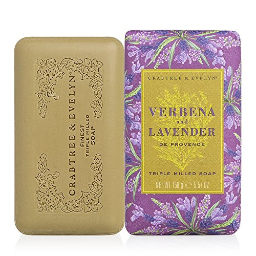 Crabtree & Evelyn Triple Milled Soap, Verbena & Lavender de Provence, 5.57 oz