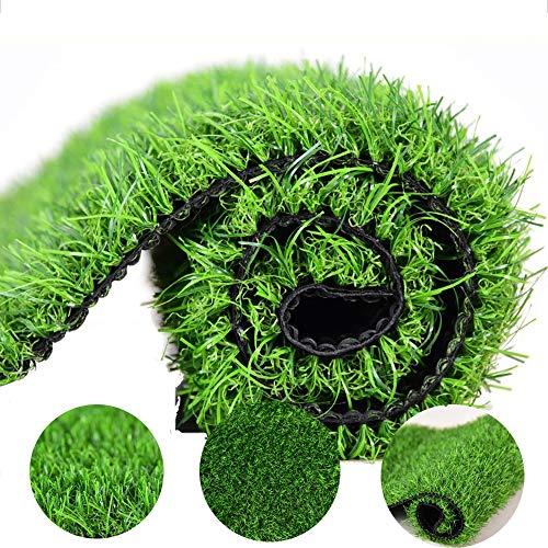 GHHZZQ Kunstrasen Field Künstlicher Rasen Stapelhöhe 3cm Hohe Dichte Brandschutz Terrasse Garten, 2 Farben (Color : A, Size : 2x0.5m)