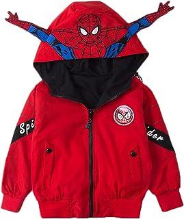 f49003796 Spiderman Zip Up Boys Hoodie Hooded Jackets Child Long Sleeve Sweatshirt Coat  Jacket 4-11