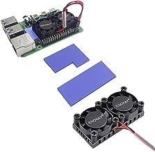 Enokay Raspberry Pi 4 Model B B+ Dual Fan with Raspberry Pi Heatsink for Raspberry Pi 4B