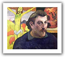 ArtWall 'Self Portrait with Yellow Christ' Unwrapped Canvas Artwork by Paul Gauguin, 18 by 22-Inch