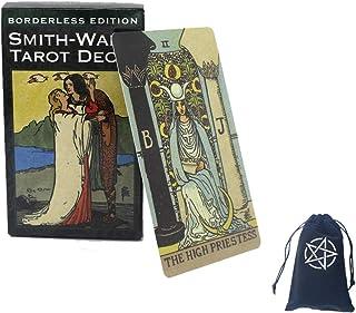 Borderless Edition Smith-Waite Tarot Card Deck för vänner Familj Party spelar Holiday Happy Board Game Presentkort,with ba...