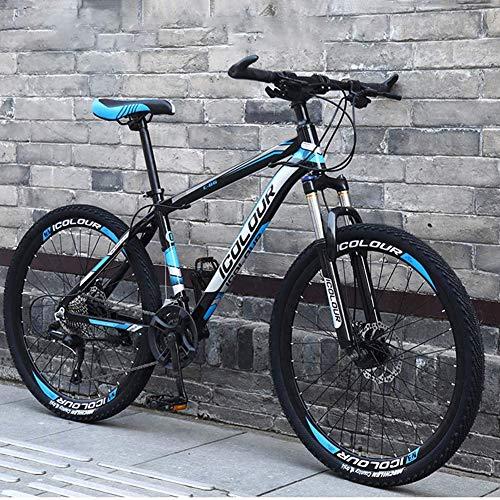 WLKQ Mountain Bike - Bicicletta Montagna - MTB - Bici Biammortizzata - Doppio Freno a Disco in Acciaio/High-Carbonio Telaio Bici, off-Road Beach motoslitta Biciclette, 26 Pollici Ruote,B1