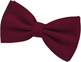 SISIDI 100% Cotton Men's Pre-Tied Bow Tie,Adjustable Double Layer Bow Tie - Various Colors