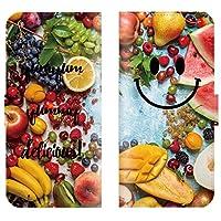 Redmi Note 10 Pro 対応 スマホケース 全機種対応 手帳型 にこ smile にこちゃん マーク フルーツ キュート 果物 りんご ベリー スマートフォン ケース