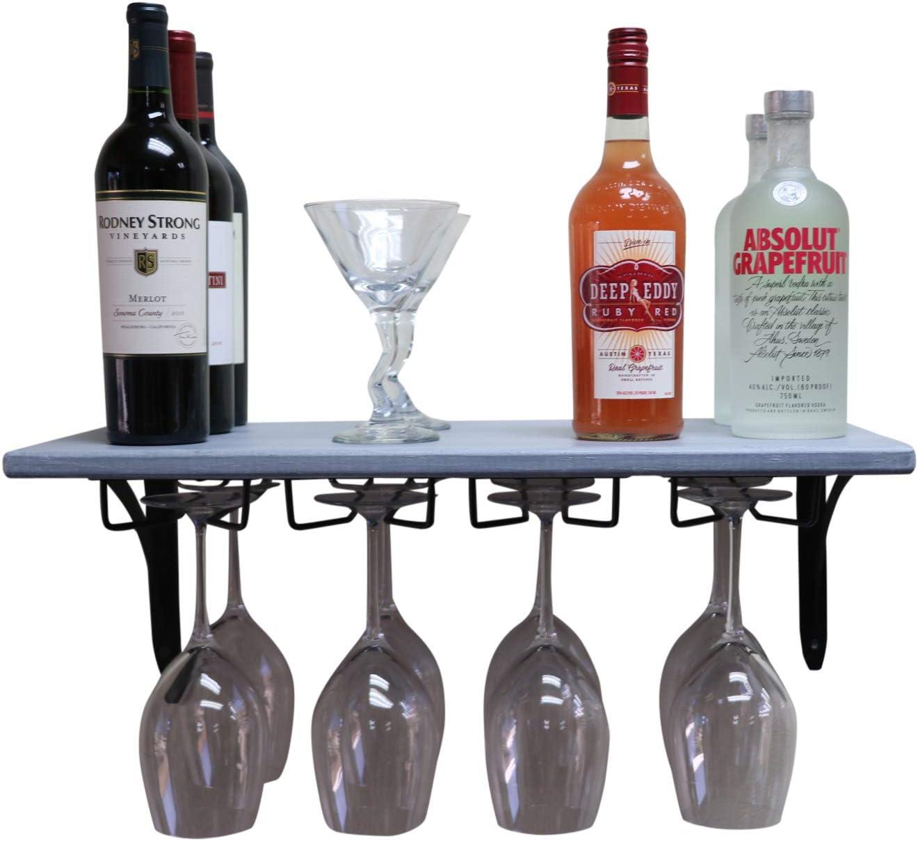 SDI Designs Handmade Factory outlet Wall Mounted Bargain sale Rack Shelf Glass Wine Floating
