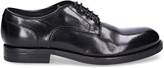PANTANETTI Men's 10912 Black Leather Lace-Up Shoes