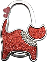 1 Stks Portemonnee Tas Houder Veiliger Gift Shining Hanger Draagbare Handtas Haak Metalen Opvouwbaar, rood