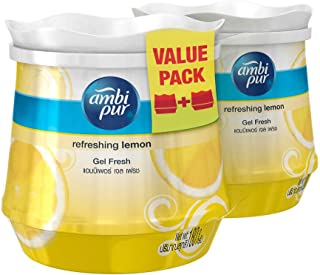 Ambi Pur Gel Air Freshener, Fresh Lemon, 180g (Pack of 2)