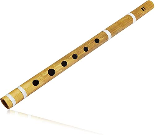 The Great Indian Bazaar Unique Birthday Gift Ideas 14 Authentic Indian Wooden Bamboo Flute in B Key Fipple Woodwind Musical Instrument Recorder Traditional Bansuri Hand Crafted Gifts For Adult Kids
