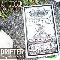 DRIFTER surf shop & cafe (ドリフター サーフショップアンドカフェ) Rob Machado ART STICKER GOOD VIBES SHIP グッドバイブスシップ ロブ・マチャド アートステッカー ロゴステッカー サーフィン シール