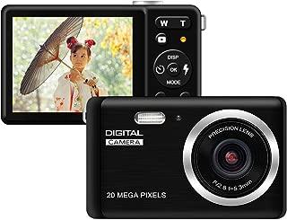 Funcam子供用デジタルカメラ デジカメ HD 2000万画素 8倍デジタルズーム 2.8インチTFTスクリーン ファッション カメラ(黒)