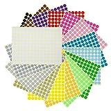 LAOYE 5280 pcs Gommettes Rondes Autocollantes 32 Feuilles 1 cm 16 Couleurs Gommette Autocollante Étiquette Ronde Pastille Stickers Enfants Creatifs