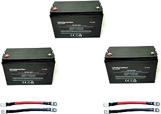 3pcs WindyNation 100 amp-Hour 100AH 12V 12 Volt AGM Deep Cycle Sealed Lead Acid Battery - Solar RV UPS Off-Grid (3 pcs 100...