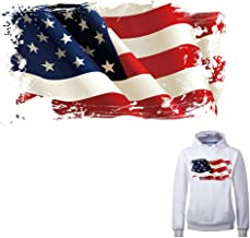 American Flag Iron on Patch Heat Transfer Stickers for Jackets Jeans T-Shirt Clothing Decorations Women Men Kids Large Patch Decal