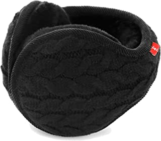 Unisex Winter Earmuffs Knit Ear Warmers for Women Foldable
