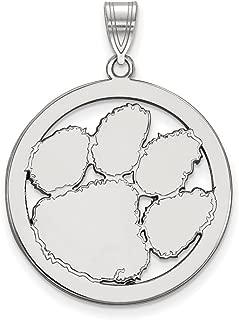 Sterling Silver LogoArt Alpha Chi Omega Small Pendant