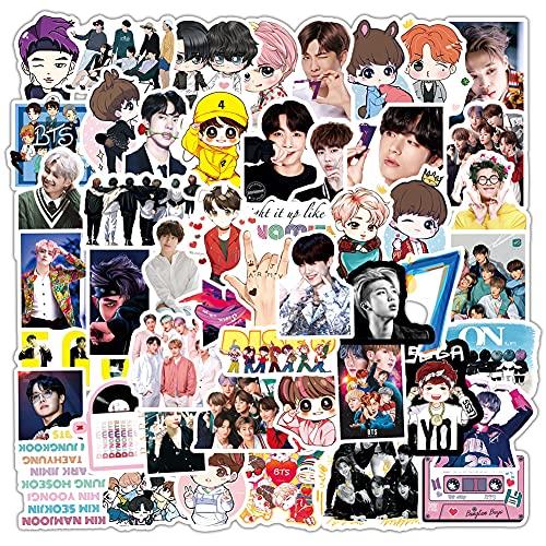 90pcs Pop Singer BTS pegatinas, Pegatinas Stickers BTS para ARMY Skate Pegatinas Calcomanías,Paquete de pegatinas para adolescentes Mejores Regalos para Niños y Niñas para Portátiles, Moto, Equipaje