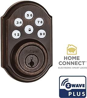 Kwikset 99100-079 SmartCode 910 Traditional Smart Keypad Electronic Deadbolt Door Lock with SmartKey Security and Z-Wave Plus, Venetian Bronze