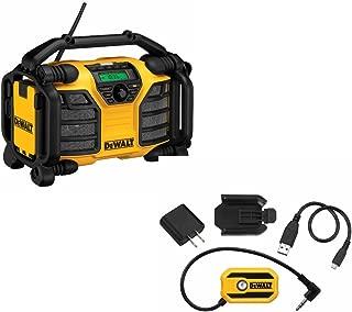 DeWalt DCR015 12V/20V Work Site Charger Radio & DeWalt DCR002 Bluetooth Adaptor