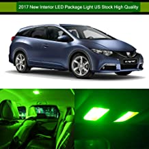SCITOO LED Interior Lights 6pcs Green Package Kit Accessories Replacement for 1996-2000 Honda Civic