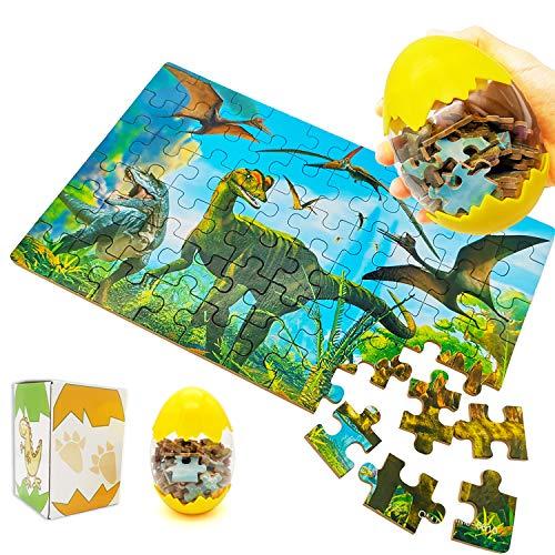 Giocattoli dinosauro per bambini dai 5 ai 10 anni, 60 pezzi, giocattoli per uova di Pasqua per bambini, regalo divertente per bambini di età 5, 6, 7, 8, 9, 10 anni, ragazzi, ragazze.