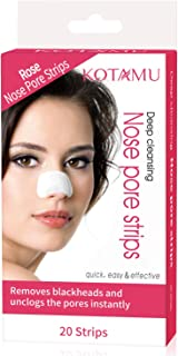 Blackhead Pore Strips, KOTAMU Blackhead Removal Deep Cleansing Pore Strips For Nose 20 Count Unclogging