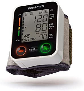 Automatic Wrist Blood Pressure Monitor by Paramed: Blood-Pressure Kit of Bp Cuff + 2AAA..