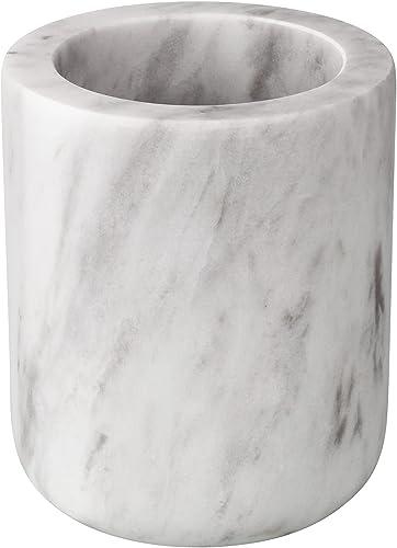 new arrival WORHE 2021 Kitchen Tool Holder Utensil Holder 2021 True Natural Marble Utensil Caddy, Non-Slip Counter Organizer Tool for Kitchen Home Decor Volakos White (DL001) online