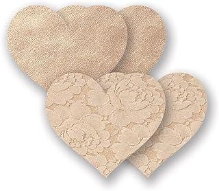 Nippies Creme Heart Waterproof Adhesive Fabric Nipple Cover Pasties