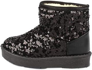 Aiweijia Children snow boots girls winter warm sequins casual shoes