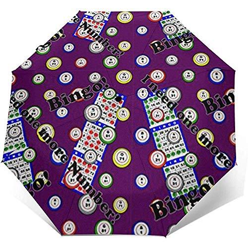 Bingo Ich Brauche noch eine Nummer Reiseschirm Sonnenschirm-Lightweight Windproof Sunscreen Umbrella-Auto Öffnen und Schließen-Taste