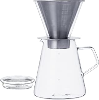 Kinto 700 ml Carat Coffee Dripper and Pot with Lid