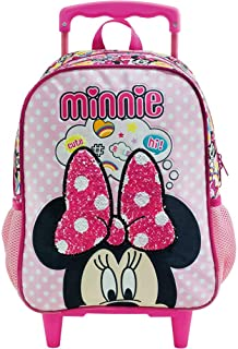 Mala com Rodas 14 Minnie Magic Bow 8931 - Artigo Escolar Minnie Mouse, Rosa