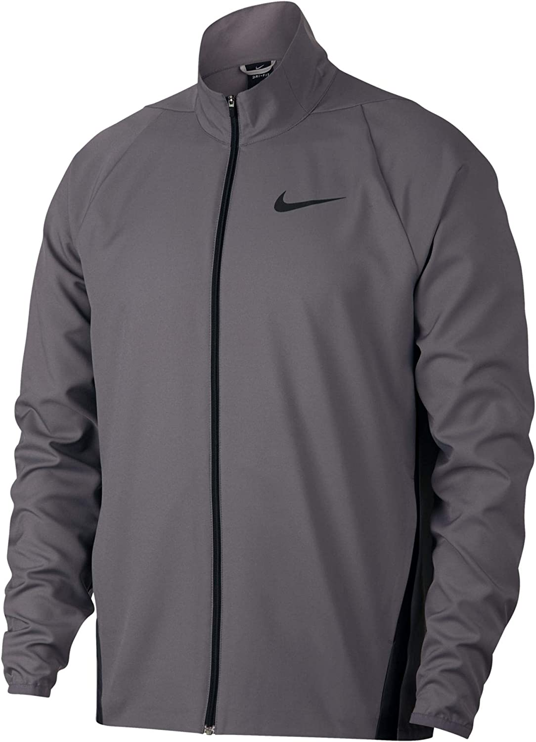 Nike Mens Standard Fit Training Athletic Jacket Gray S