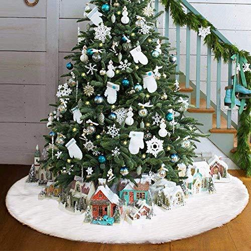 Weihnachtsbaum Rock, AMAUK Weiß Tannenbaum Decke Weihnachtsbaumdecke Christbaumständer Baum Decke Weiss kunstfell plüsch(90CM)