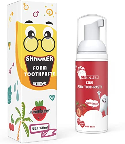 2021 Kids Foam Toothpaste with Strawberry Flavor, Fluoride Free outlet sale Natural Formula, Foam Toothpaste for Electric Toothbrush (60ml)(1 sale Pack) outlet sale