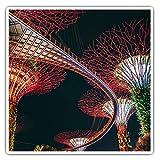 Impresionantes pegatinas cuadradas (juego de 2) 7,5 cm – Garden by The Bay Singapur calcomanías divertidas para portátiles, tabletas, equipaje, reserva de chatarras, neveras, regalo genial #45131