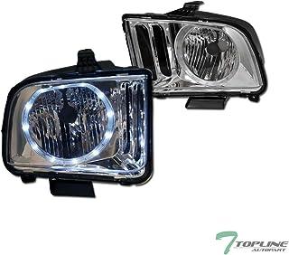 Topline Autopart Chrome Clear Housing Halo LED Headlights...